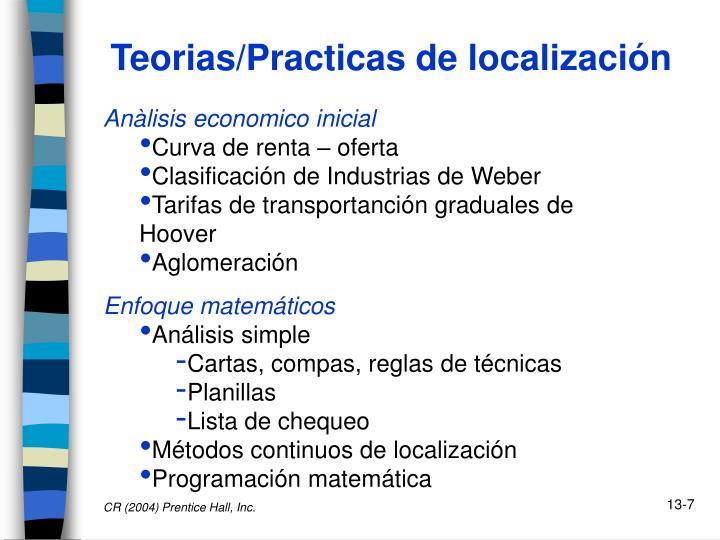 Teorias/Practicas de localización