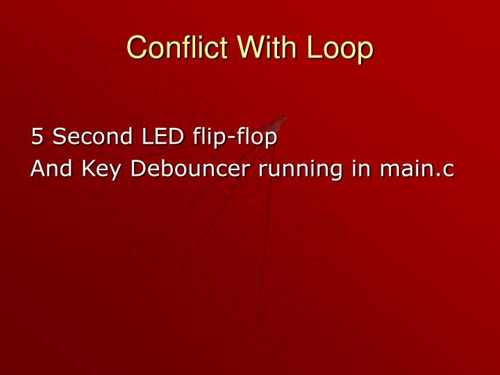 Conflict With Loop