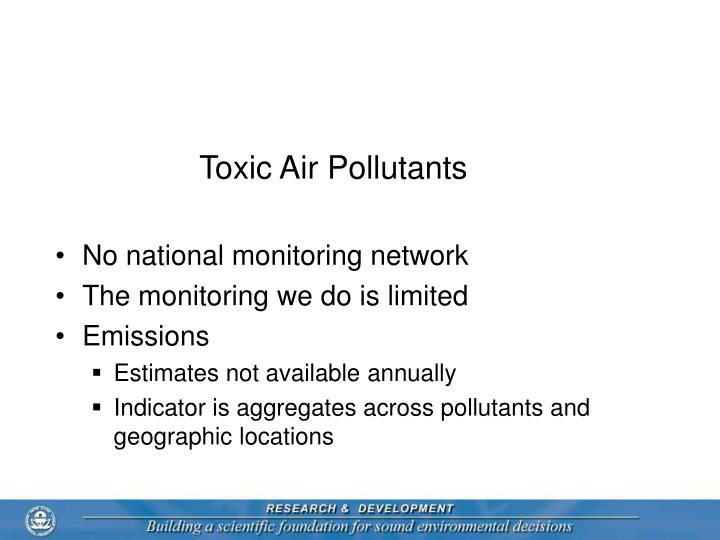 Toxic Air Pollutants