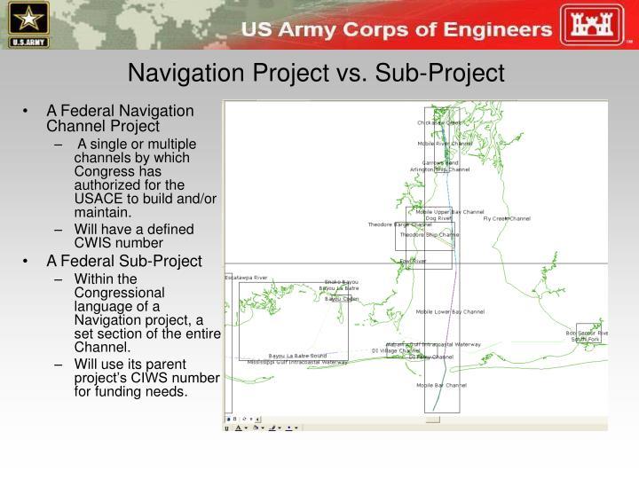 Navigation Project vs. Sub-Project