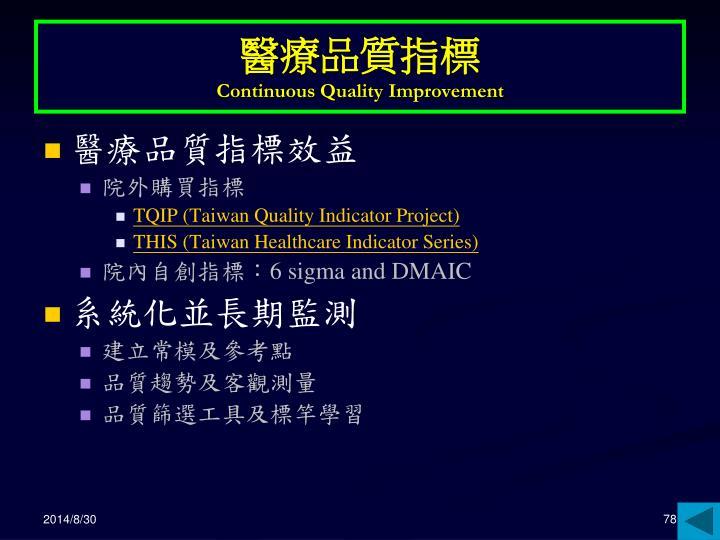 醫療品質指標
