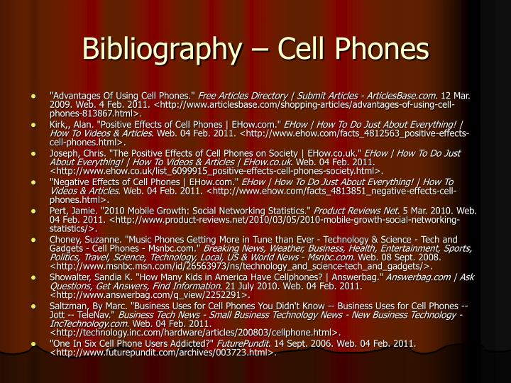 Bibliography – Cell Phones