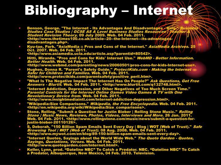 Bibliography – Internet