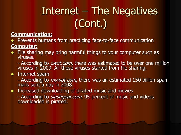 Internet – The Negatives