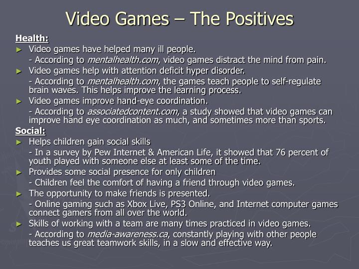 Video Games – The Positives