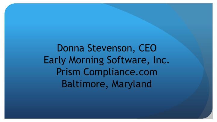 Donna Stevenson, CEO