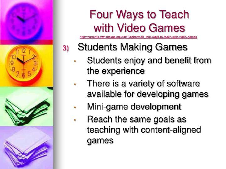 Four Ways to Teach