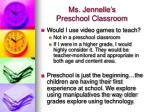 ms jennelle s preschool classroom