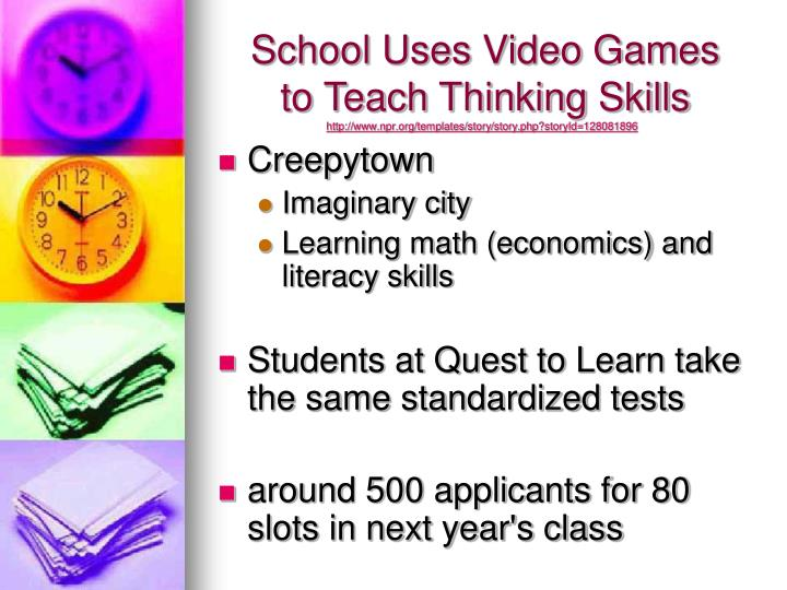 School Uses Video Games