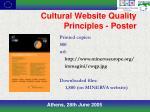 cultural website quality principles poster