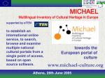 michael multilingual inventory of cultural heritage in europe