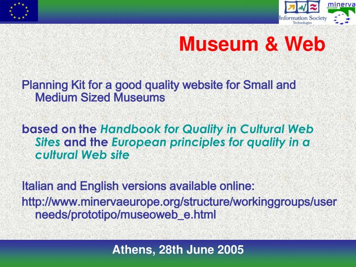 Museum & Web