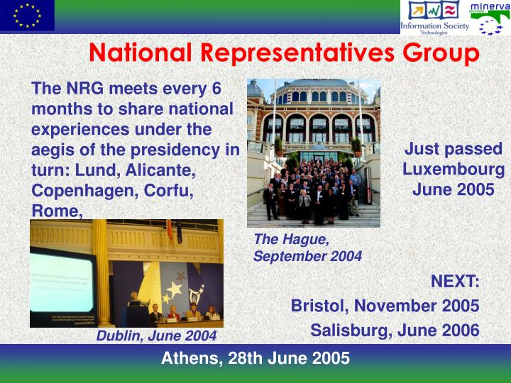 National representatives group