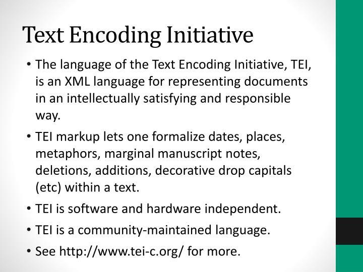 Text Encoding Initiative