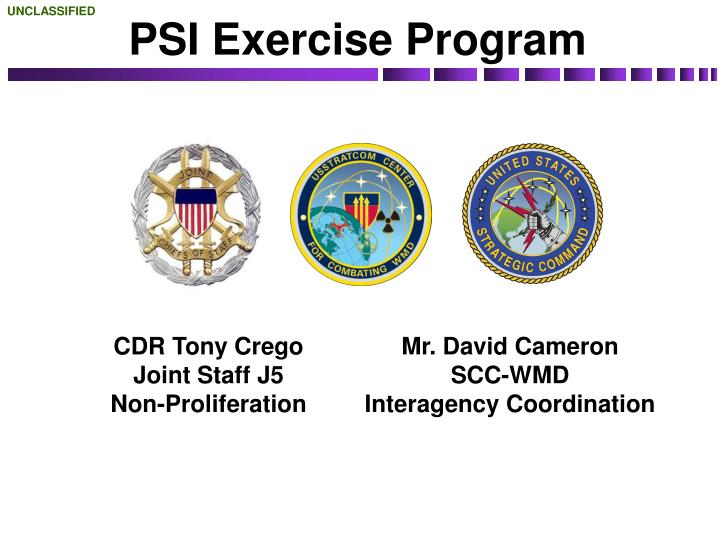 Psi exercise program