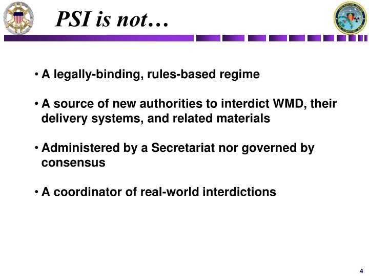 PSI is not…