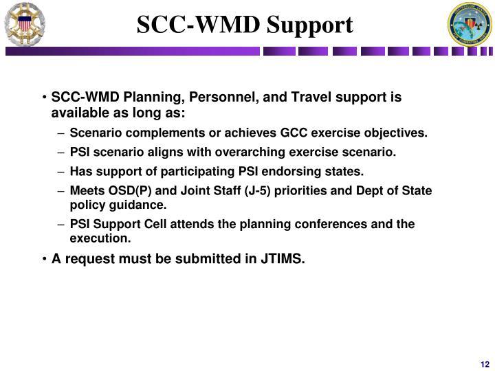 SCC-WMD Support