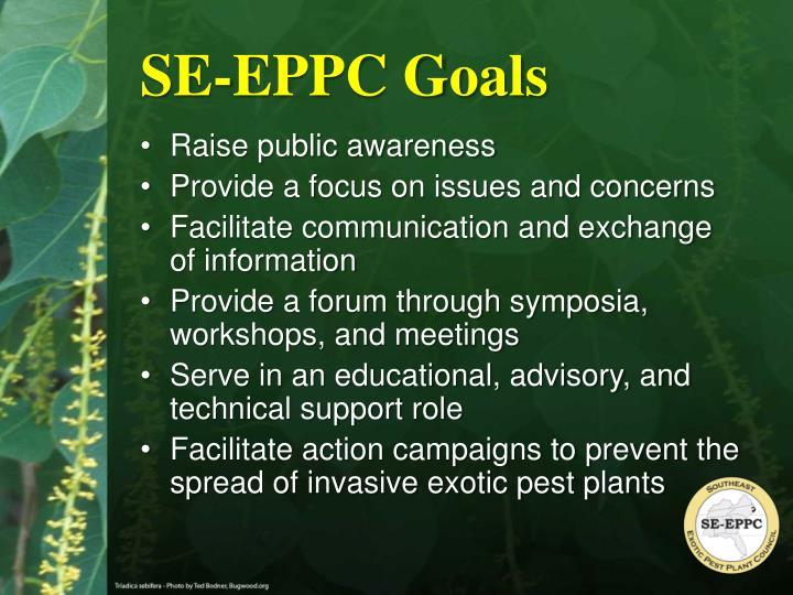 SE-EPPC Goals