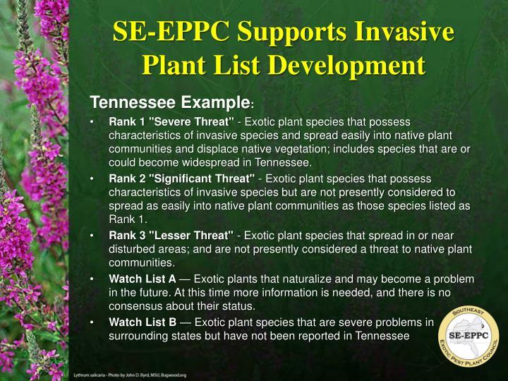 SE-EPPC Supports Invasive Plant List Development