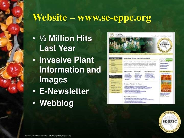 Website – www.se-eppc.org