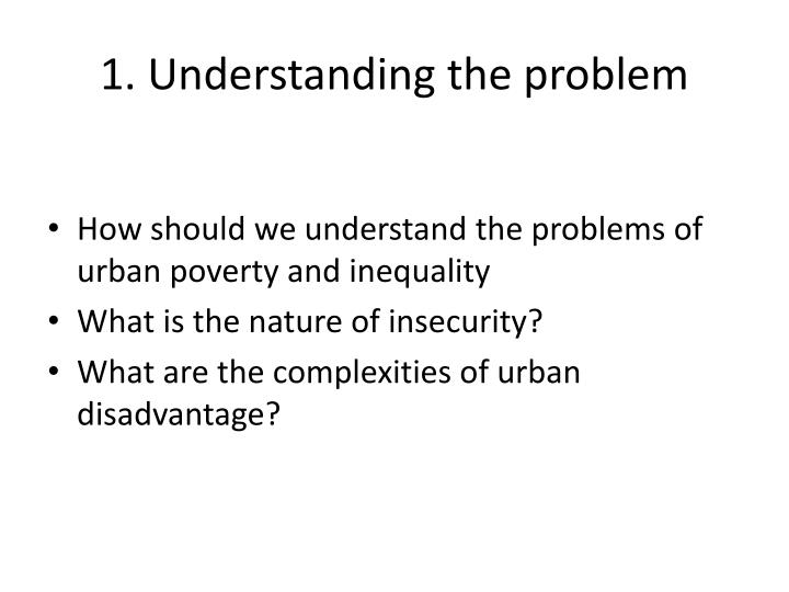 1. Understanding the problem