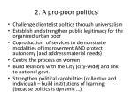 2 a pro poor politics
