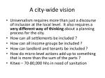 a city wide vision