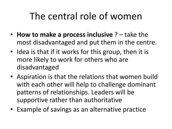 The central role of women