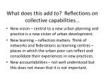 w hat does this add to reflections on collective capabilities