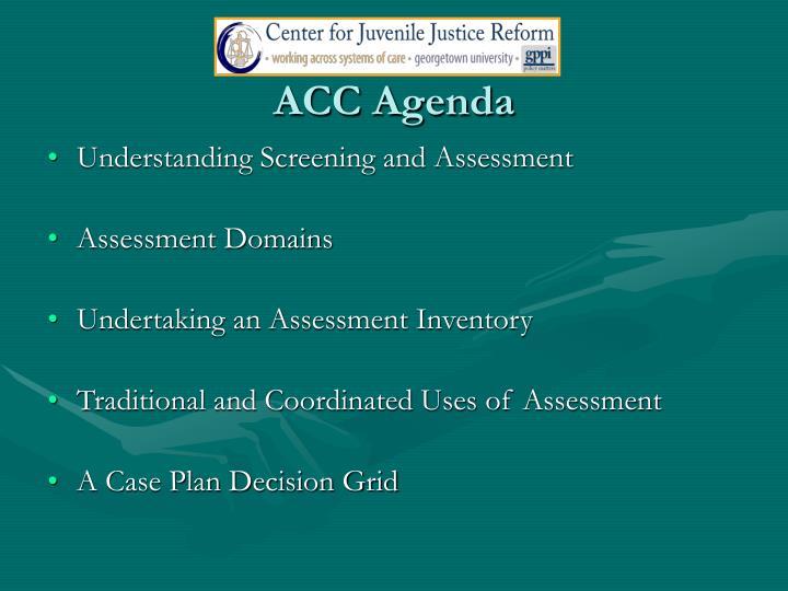 ACC Agenda