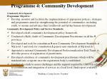 programme 4 community development