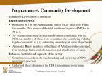 programme 4 community development1