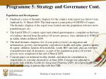 programme 5 strategy and governance cont2