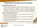 programme5 strategy and governance