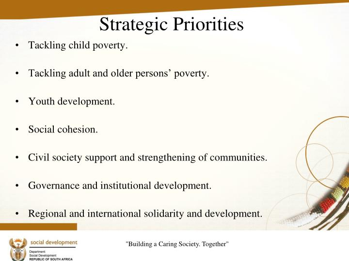 Tackling child poverty.