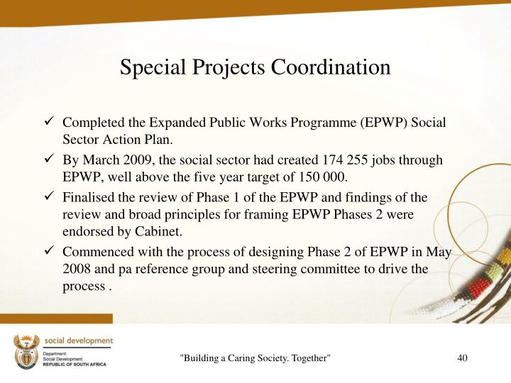 Special Projects Coordination