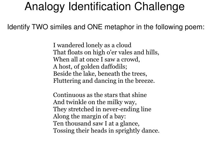 Analogy Identification Challenge