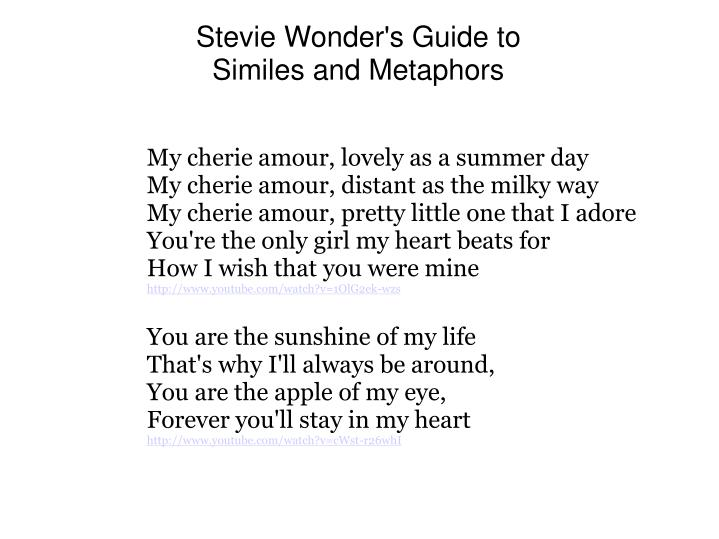 Stevie Wonder's Guide to