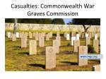 casualties commonwealth war graves commission