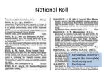 national roll