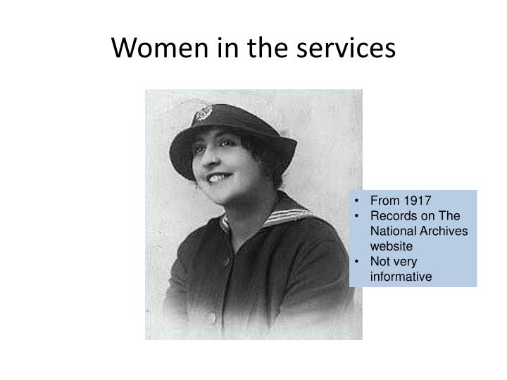 Women in the services
