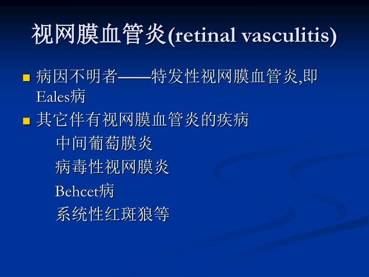 视网膜血管炎