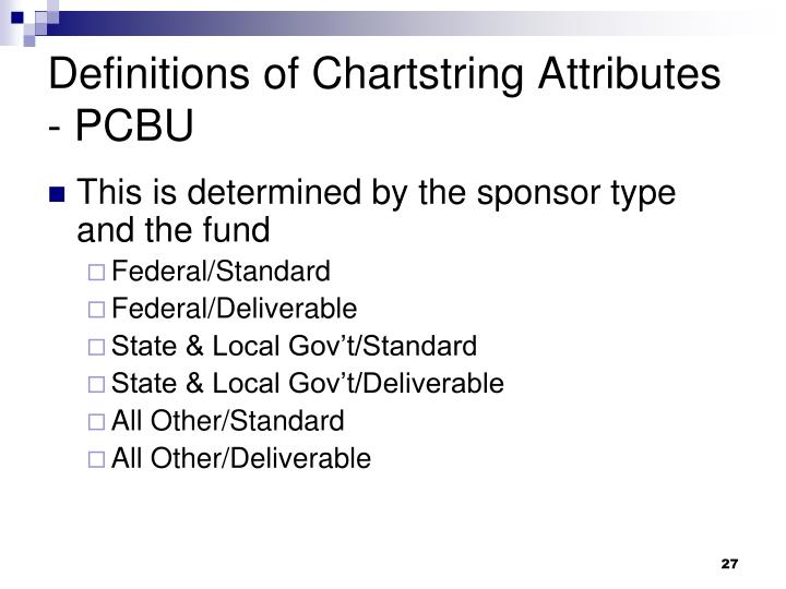 Definitions of Chartstring Attributes - PCBU