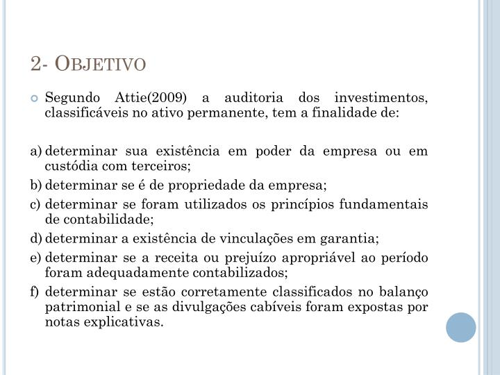 2- Objetivo