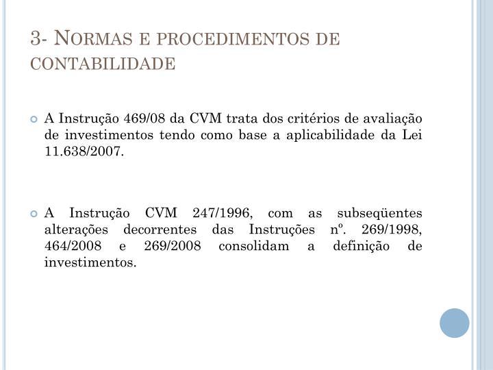 3- Normas e procedimentos de contabilidade