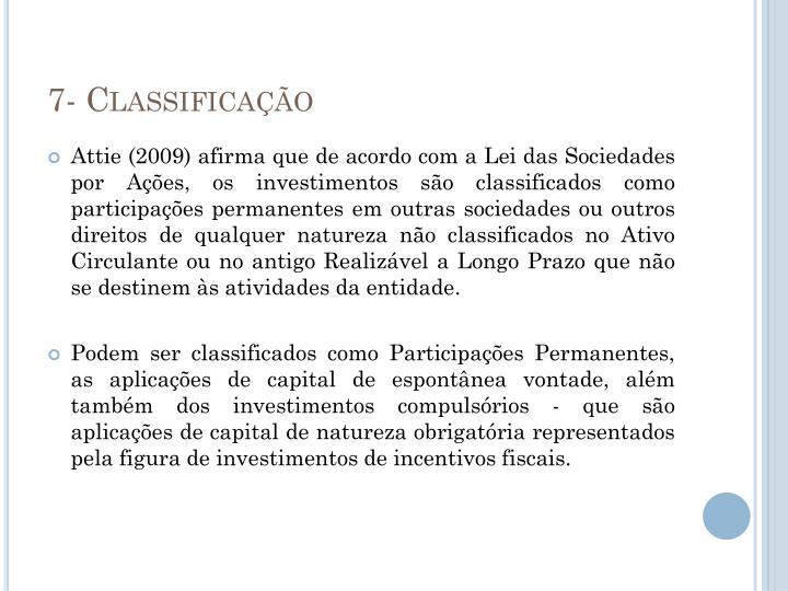 7- Classificação
