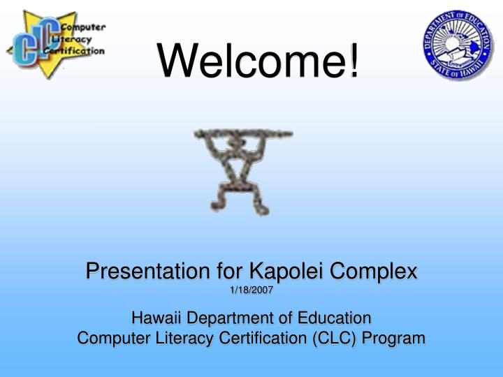 Presentation for Kapolei Complex