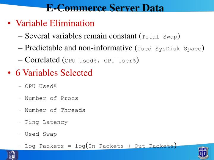 E-Commerce Server Data