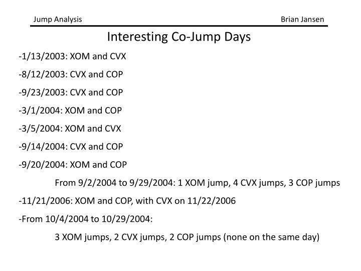 -1/13/2003: XOM and CVX