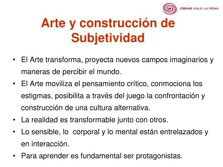 Arte y construcción de Subjetividad